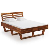 vidaXL Okvir za krevet od masivnog bagremovog drva 140 x 200 cm