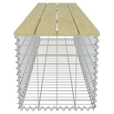 vidaXL Gabionska klupa 170 cm od pocinčanog čelika i borovine