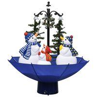 vidaXL Božićno drvce koje sniježi sa stalkom plavo 75 cm PVC