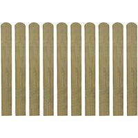 vidaXL Impregnirane letvice za ogradu 20 kom 80 cm drvene