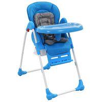 vidaXL Visoka hranilica za bebe plavo-siva