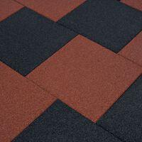 vidaXL Ploče za zaštitu od pada 6 kom gumene 50 x 50 x 3 cm crvene