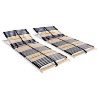vidaXL Podnice za krevet 2 kom s 42 letvice i 7 zona 70 x 200 cm
