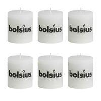 Bolsius rustikalna stupna svijeća 80 x 68 mm Bijela 6 kom