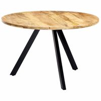 vidaXL Blagovaonski stol od masivnog drva manga 120 x 76 cm
