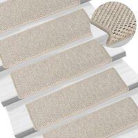 vidaXL Samoljepljivi otirači za stepenice 15 kom 65 x 25 cm srebrni