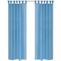 Tirkizne prozirne zavjese 140 x 175 cm 2 kom