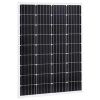 vidaXL Solarna ploča monokristalna 100 W aluminij i sigurnosno staklo