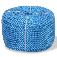 vidaXL Uvijeno uže od polipropilena 16 mm 100 m plavo
