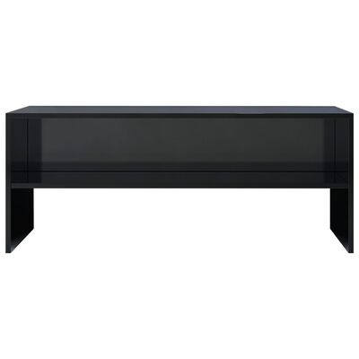 vidaXL TV ormarić od iverice visoki sjaj crni 100 x 40 x 40 cm