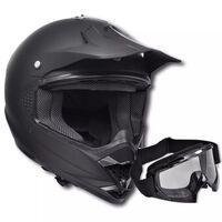Motocross kaciga Crna L Bez vizira s zaštitnim naočalama