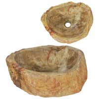 vidaXL Umivaonik od fosilnog kamena 45 x 35 x 15 cm krem