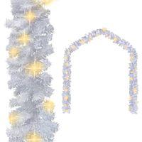 vidaXL Božićna girlanda s LED svjetlima 5 m bijela