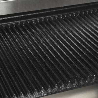 vidaXL Pekač za sendviče od nehrđajućeg čelika 1800 W 32 x 41 x 19 cm