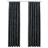 vidaXL Zavjese za zamračivanje 2 kom baršunaste antracit 140 x 175 cm