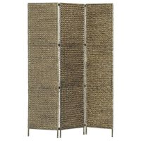 vidaXL Sobna pregrada s 5 panela smeđa 193 x 160 cm od vodenog zumbula