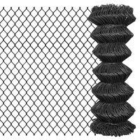 vidaXL Žičana ograda 25 x 1 m čelična siva
