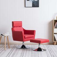 vidaXL TV fotelja od umjetne kože crvena