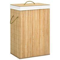 vidaXL Košara za rublje od bambusa 72 L