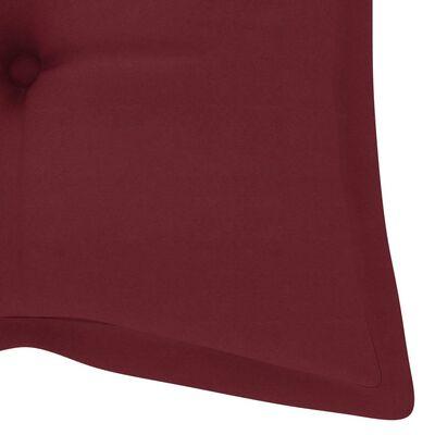 vidaXL Jastuk za vrtnu klupu crvena boja vina 120 x 50 x 7 cm tkanina