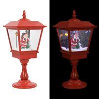 vidaXL Božićna samostojeća svjetiljka s Djedom Mrazom 64 cm LED