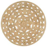 vidaXL Ručno rađeni pleteni tepih od jute 120 cm