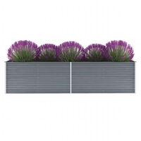 vidaXL Vrtna sadilica od pocinčanog čelika 320 x 80 x 77 cm siva