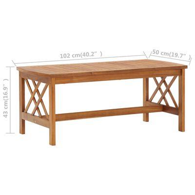 vidaXL Stolić za kavu 102 x 50 x 43 cm od masivnog bagremovog drva