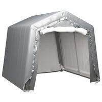 vidaXL Skladišni šator 240 x 240 cm čelični sivi