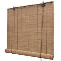 vidaXL Rolete za zatamnjivanje od bambusa 150x160 cm smeđe