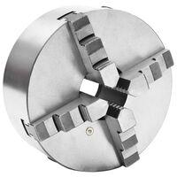 vidaXL Stezna glava za tokarski stroj s 4 čeljusti 200 mm čelična