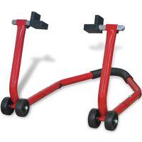 vidaXL Podupirač za Motocikl Stražnji Kotač,crvene boje