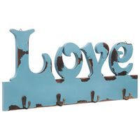 vidaXL Zidna vješalica za kapute LOVE 50 x 23 cm