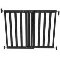 Noma produžna sigurnosna ograda 63,5 - 106 cm drvena crna 93743