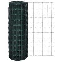 vidaXL Euro ograda čelična 10 x 1,5 m zelena