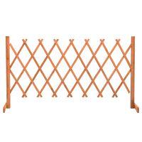 vidaXL Vrtna rešetkasta ograda narančasta 150 x 80 cm masivna jelovina