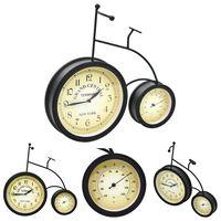 vidaXL Vrtni zidni sat s termometrom starinski u obliku bicikla