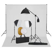 vidaXL Fotografska oprema sa svjetlima, pozadinom i reflektorima