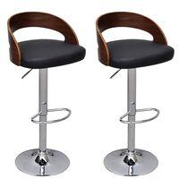 vidaXL Barske stolice 2 kom od zaobljenog drva