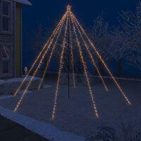 vidaXL Božićno drvce s padajućim LED svjetlima 800 LED žarulja 5 m