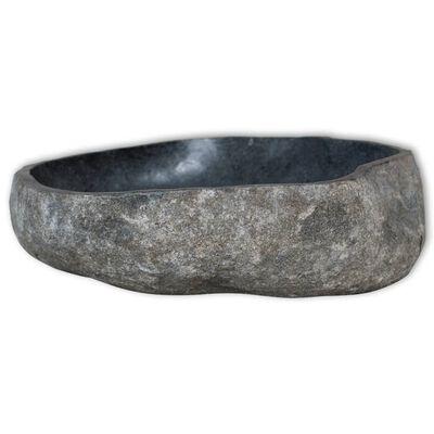 vidaXL Umivaonik od riječnog kamena ovalni 38 - 45 cm