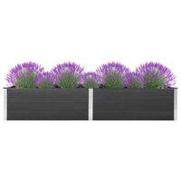 vidaXL Vrtna posuda za sadnju 300 x 100 x 54 cm WPC siva