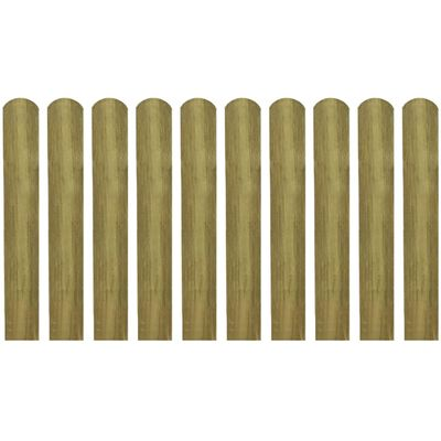 VidaXL Impregnirane letvice za ogradu 10 kom 60 cm drvo
