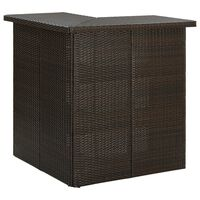 vidaXL Kutni barski stol smeđi 100 x 50 x 105 cm od poliratana