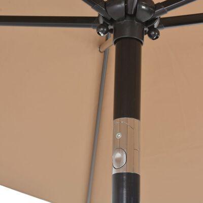 vidaXL Vrtni suncobran s metalnom šipkom 300 x 200 cm bež