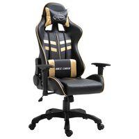 vidaXL Igraća stolica od umjetne kože zlatna