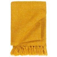 vidaXL Pokrivač od lureksa 220 x 250 cm boja senfa