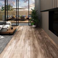 vidaXL Podne obloge od PVC-a 5,26 m² 2 mm izbijeljena boja drva