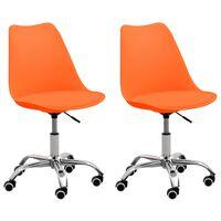 vidaXL Uredske stolice od umjetne kože 2 kom narančaste