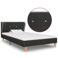 vidaXL Okvir za krevet od jute tamnosivi 90 x 200 cm